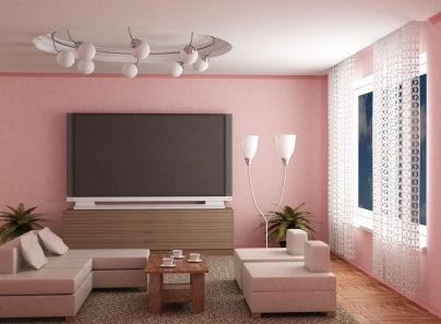 Pink walls | Decorate Apartment